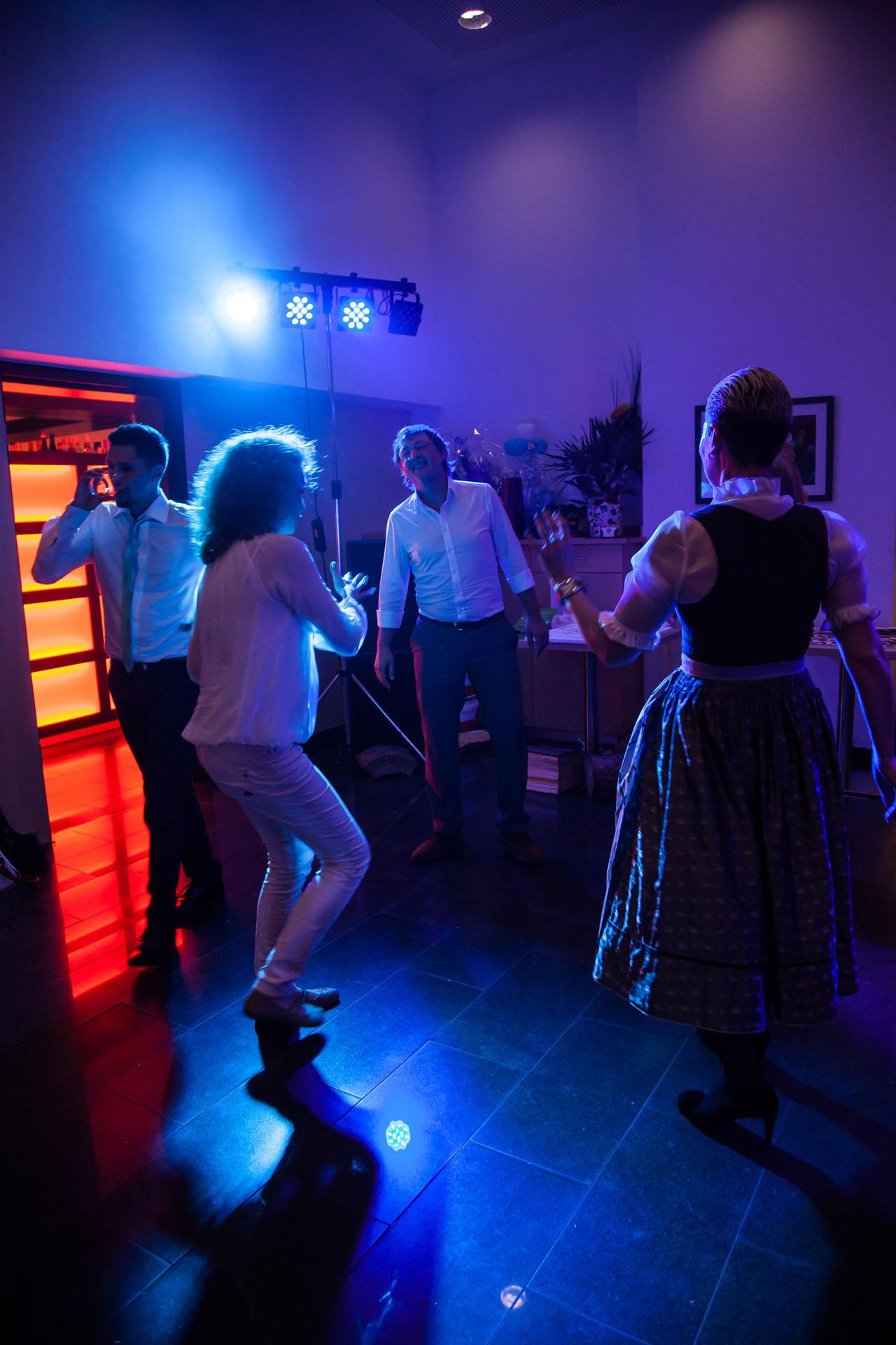 Hochzeitsfeier Party am Abend