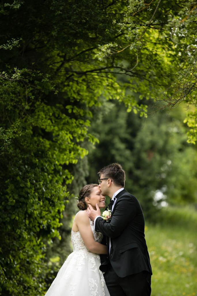 Hochzeitsfoto im Park Aibachgrund bei Sindelfingen